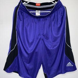"Adidas Men's 12"" Purple Athletic Basketball Shorts"